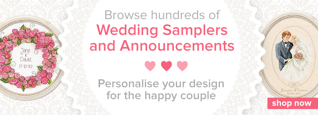 Browse Cross Stitch Wedding Samplers by Best Selling