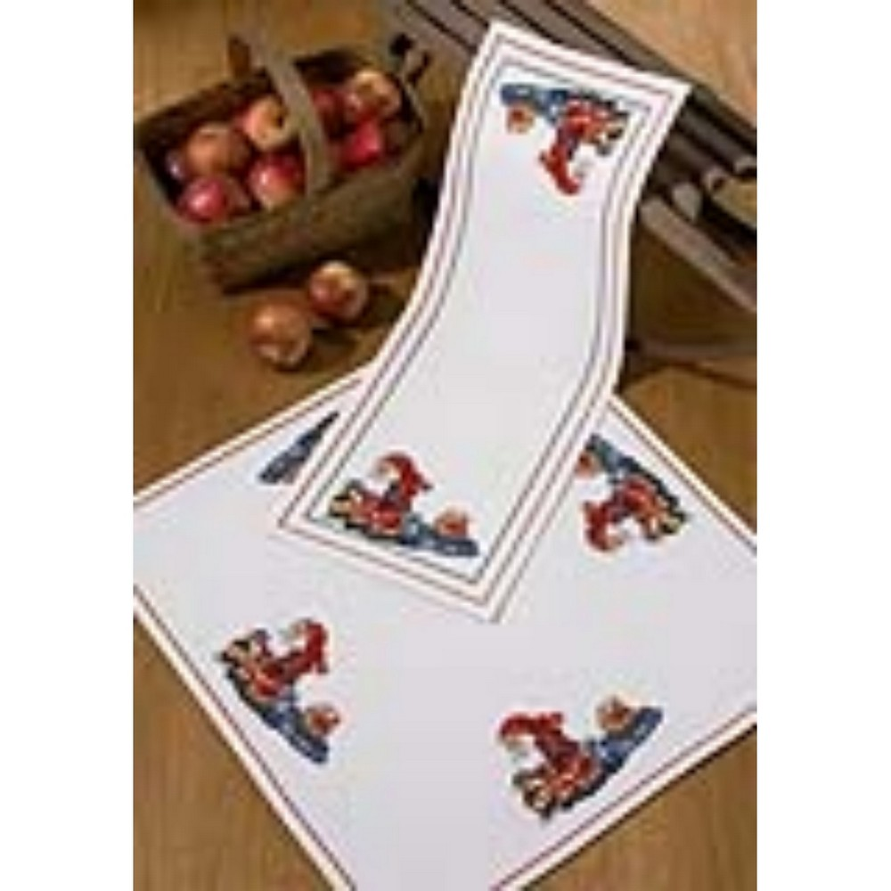 you here are    table table christmas stitch runner permin kits runners cross permin christmas sleigh