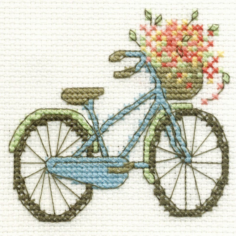 you are here cross stitch dmc mini cross stitch kits 1 bicycle