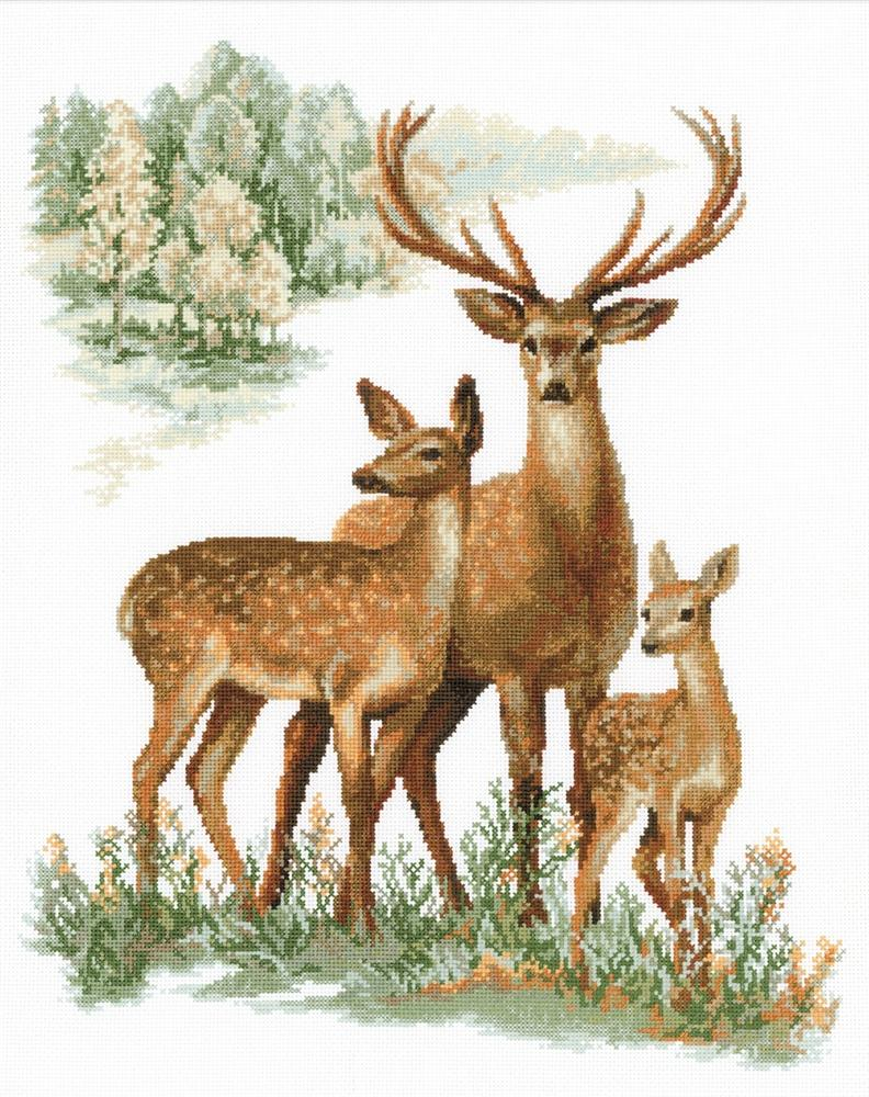stitch save balance what s this deer family you are here cross stitch ...