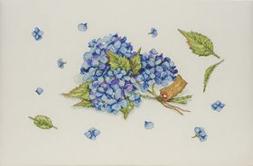 Hydrangea Study: Cross stitch (Anchor, JET0013)