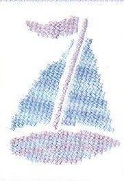Personal Touch Sailing Boats: Cross stitch (DMC, BK584)