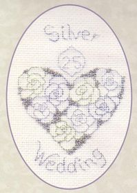 Silver or Diamond Wedding: Cross stitch (Derwentwater Designs, CDG14)