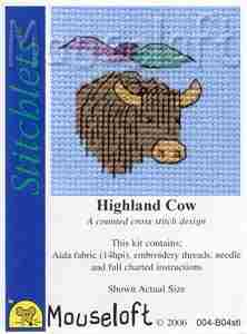 Highland Cow: Cross stitch (Mouseloft, 004-B04stl)