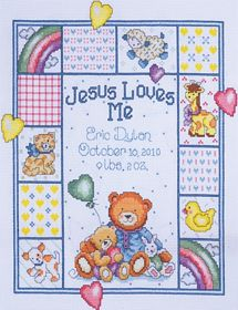 Jesus Loves Me Sampler: Cross stitch (Design Works Crafts, T21730)
