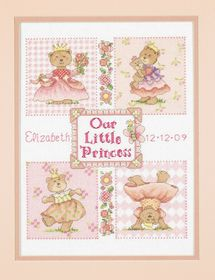 Baby Princess Birth Record: Cross stitch (Dimensions, D73425)