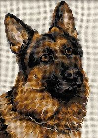 German Shepherd: Cross stitch (RIOLIS, R1068)