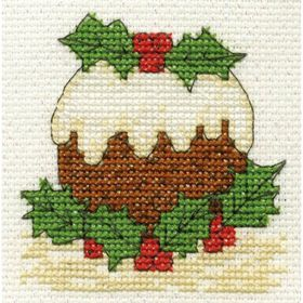 Christmas Pudding: Cross stitch (DMC, BK978-c)