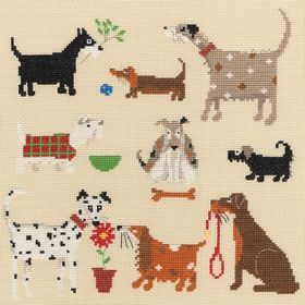 Nine Dogs: Cross stitch (Bothy Threads, XLR1)