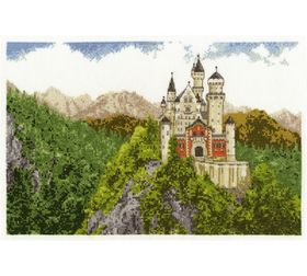 Neuschwanstein Castle: Cross stitch (DMC, BK1349)