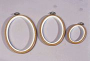 Oval Flexi Hoop 7 x 5 inches (wood effect)