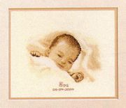Sleeping Baby Birth Sampler