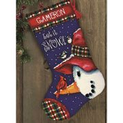 Snowman Perch Stocking
