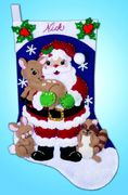 Forest Friends Felt Stocking