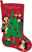 Peppermint Penguins Stocking