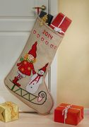 Girl and Snowman Stocking