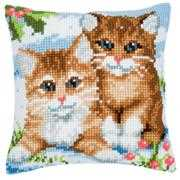 Winter Kittens Cushion