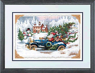 Roadster Santa - Dimensions Cross Stitch Kit