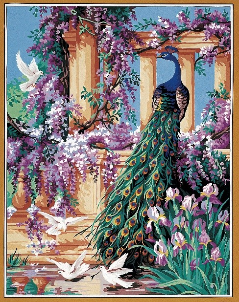 The Peacock Royal Paris Tapestry Canvas 9880158 0073