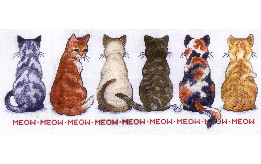 lighted magnifying glass meow meow cross stitch jca nt04769 28947