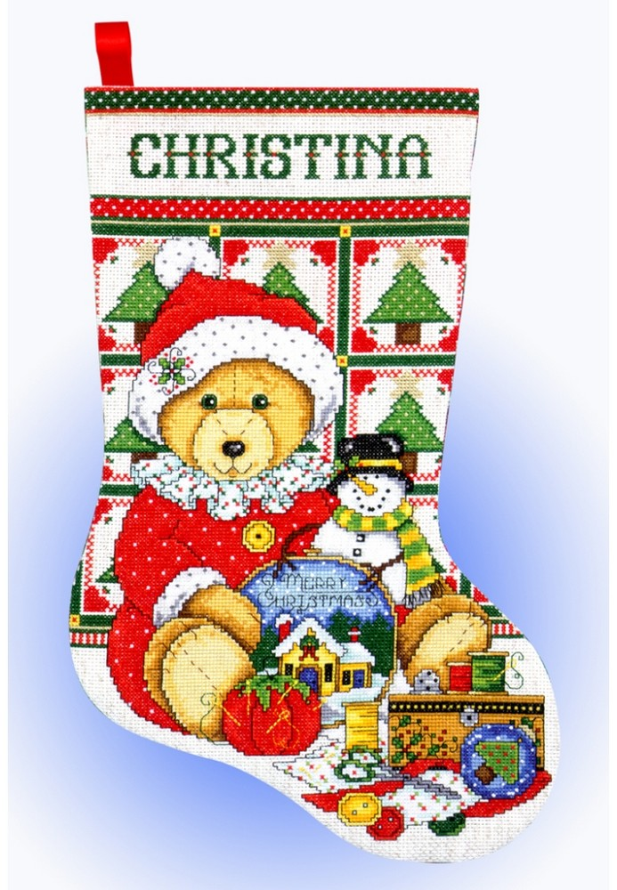 Teddy Santa Stocking