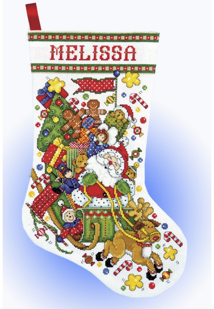 Santa Sleigh Stocking