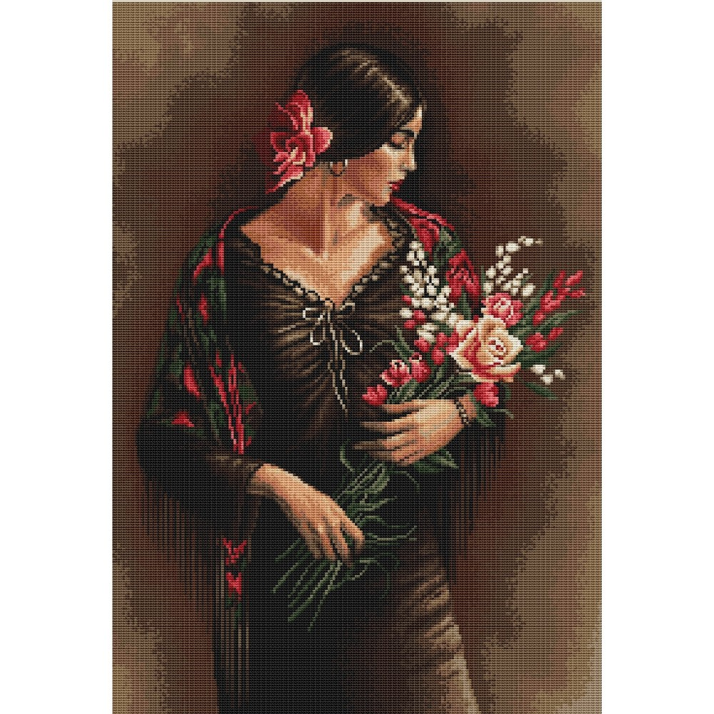 Spanish Lady with Bouquet