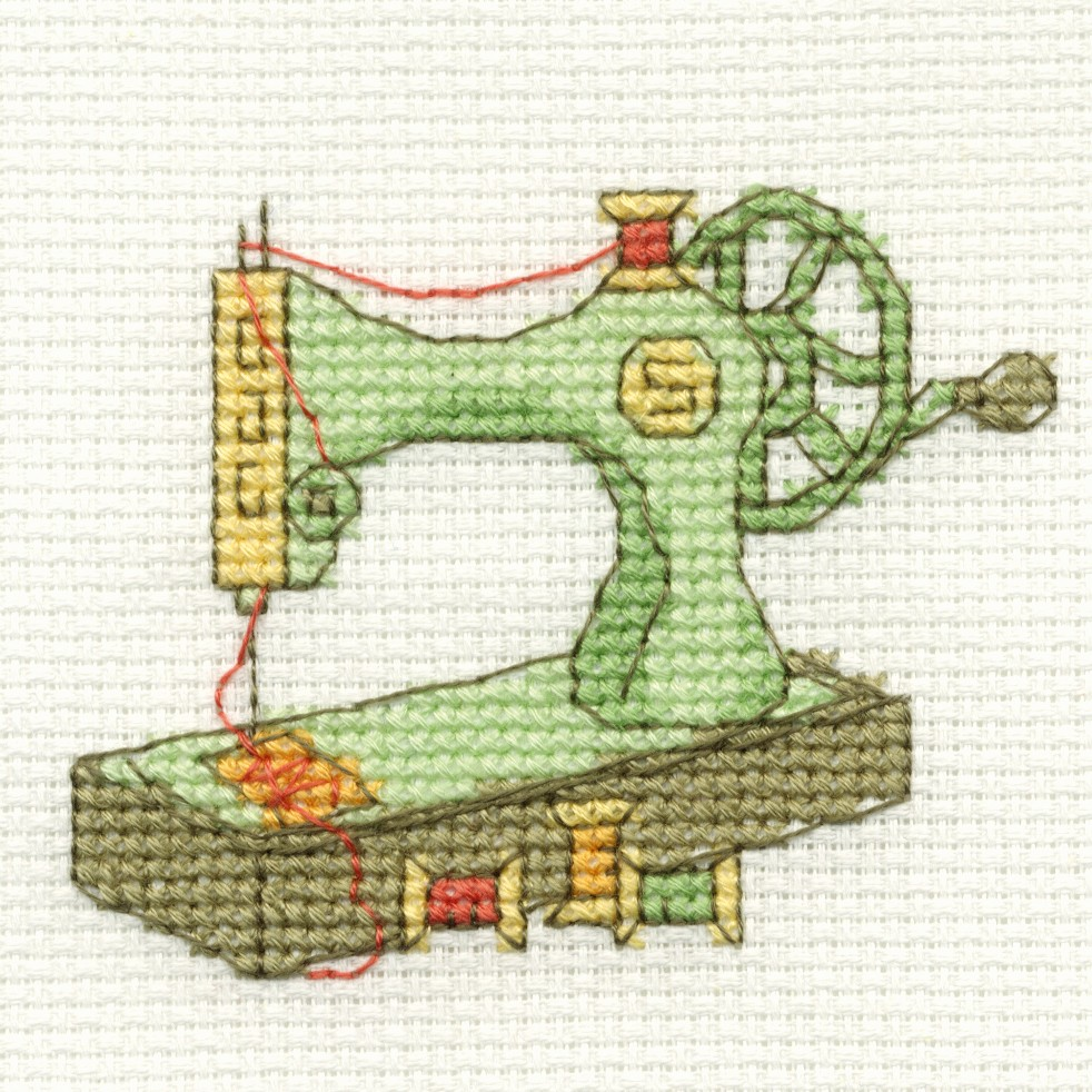 Sewing machine cross stitch kit dmc bk c