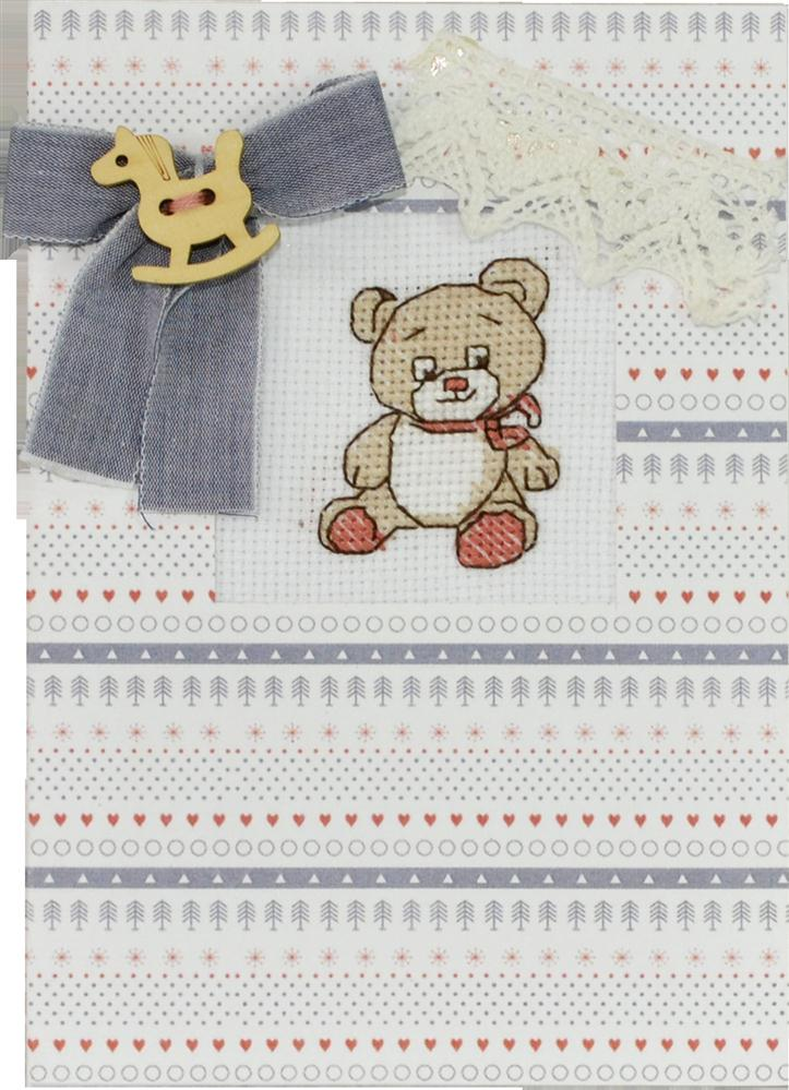 Rocking Horse Bear Card