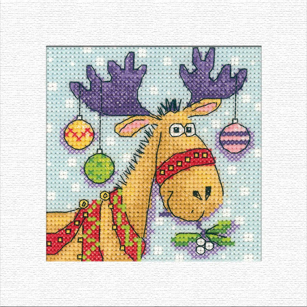 Reindeer Christmas Card Cross Stitch Kit: Cross Stitch