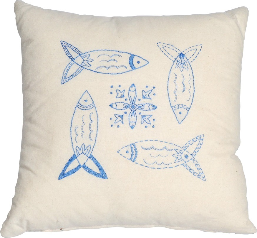 Blue Fish Value Cushion Front