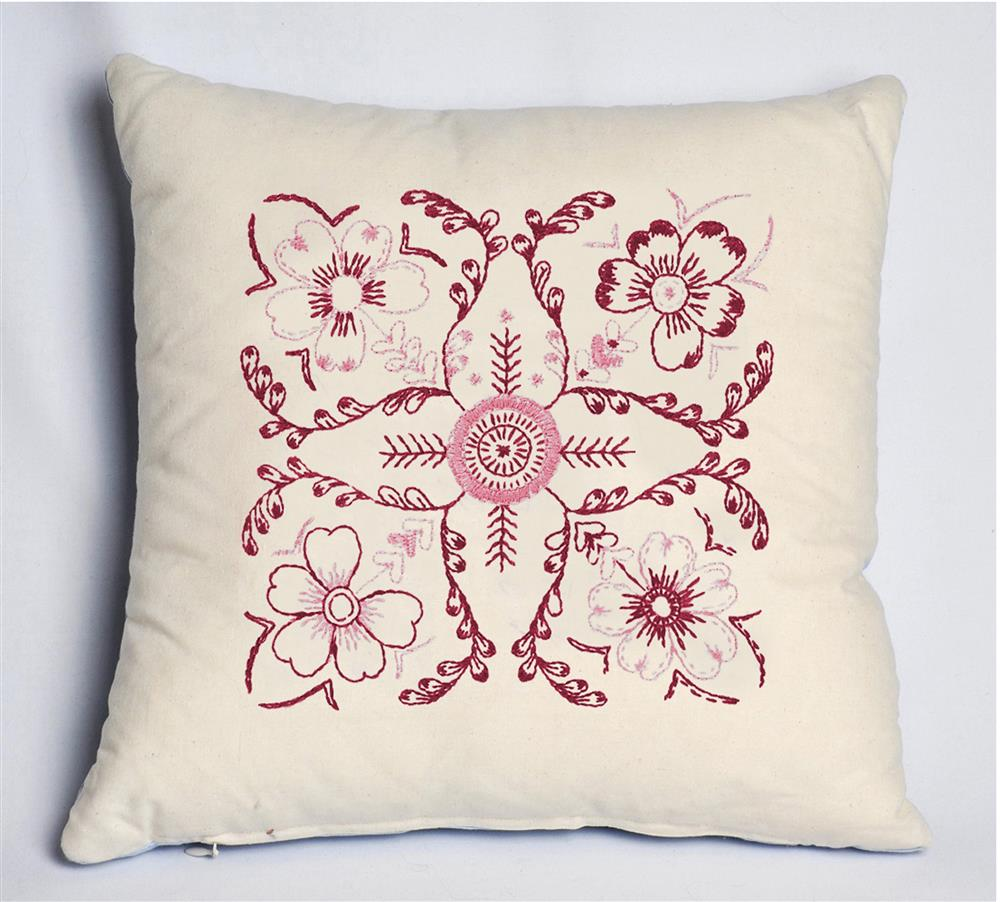 Red Floral Premium Cushion Kit