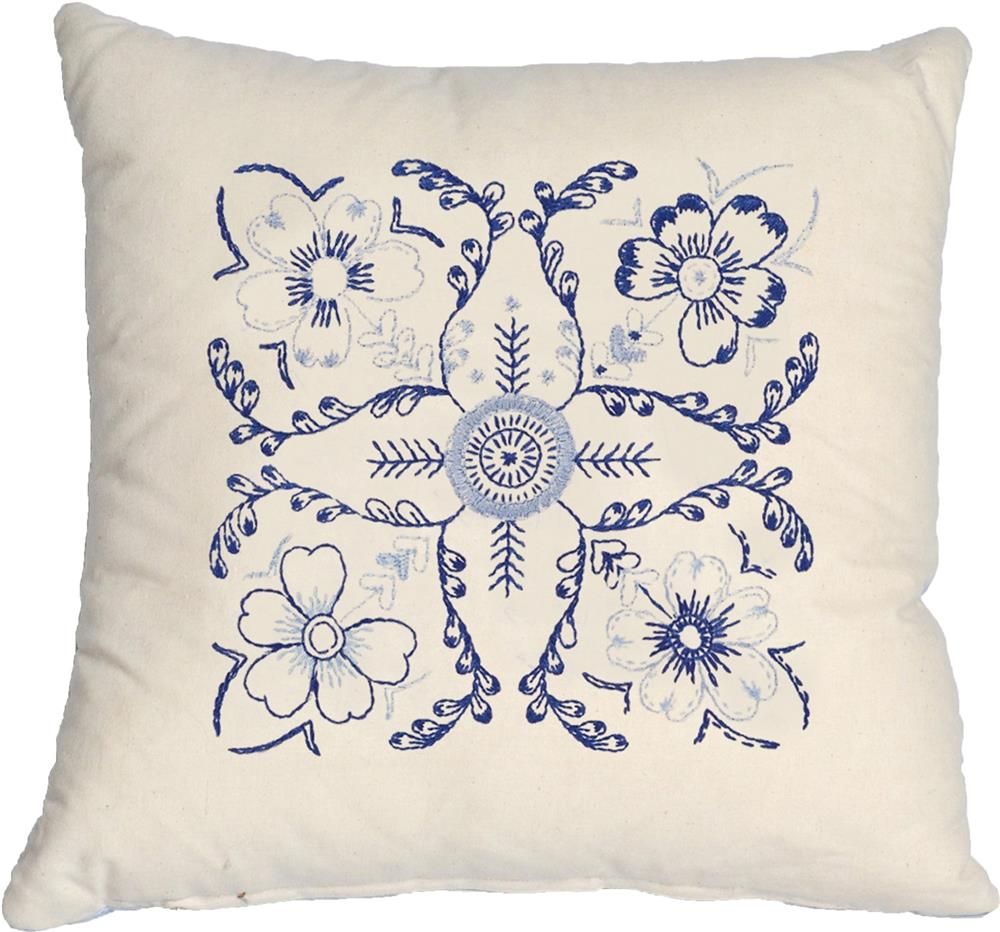 Blue Floral Premium Cushion Kit