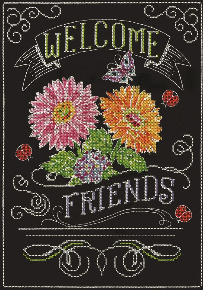 Welcome Friends Chalkboard