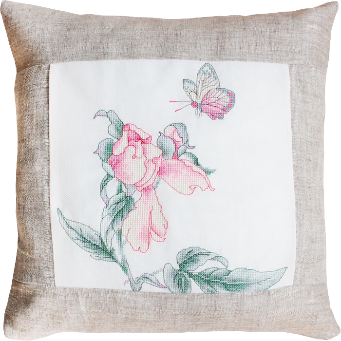 Rose and Butterfly Pillow