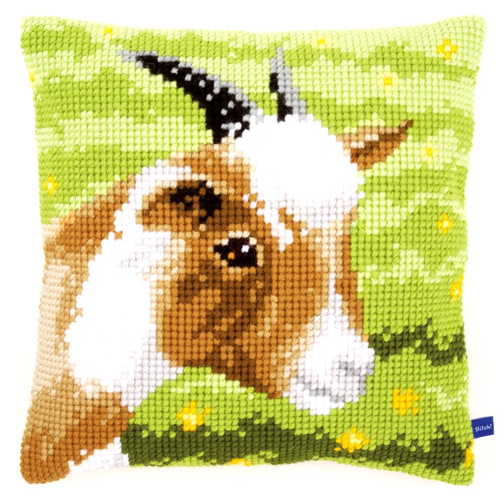 Little Goat Cushion Vervaco Cross Stitch Kit