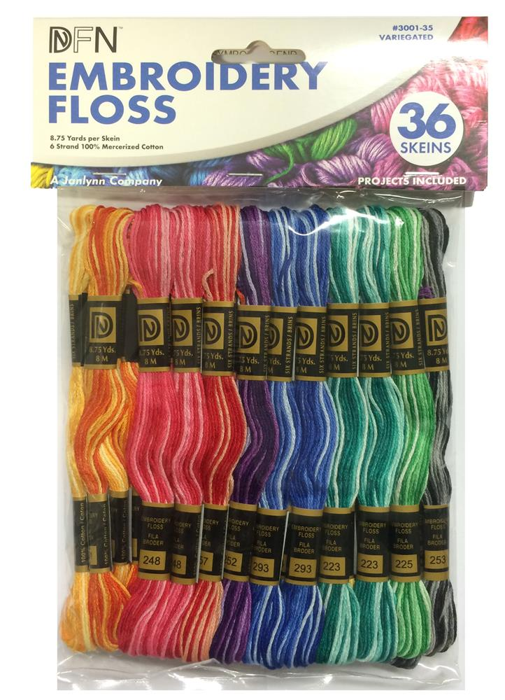 Variegated Colours 36 Skein Thread Pack