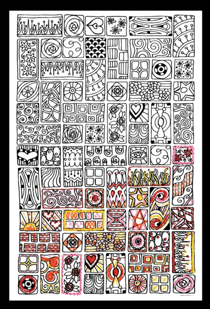 Zenbroidery Printed Fabric - Cubist