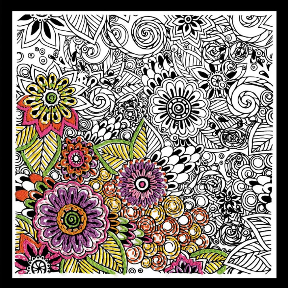 Zenbroidery Printed Fabric - Bold Floral