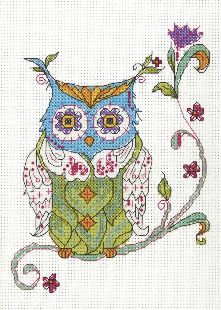 Blooming Owl - Dimensions Cross Stitch Kit