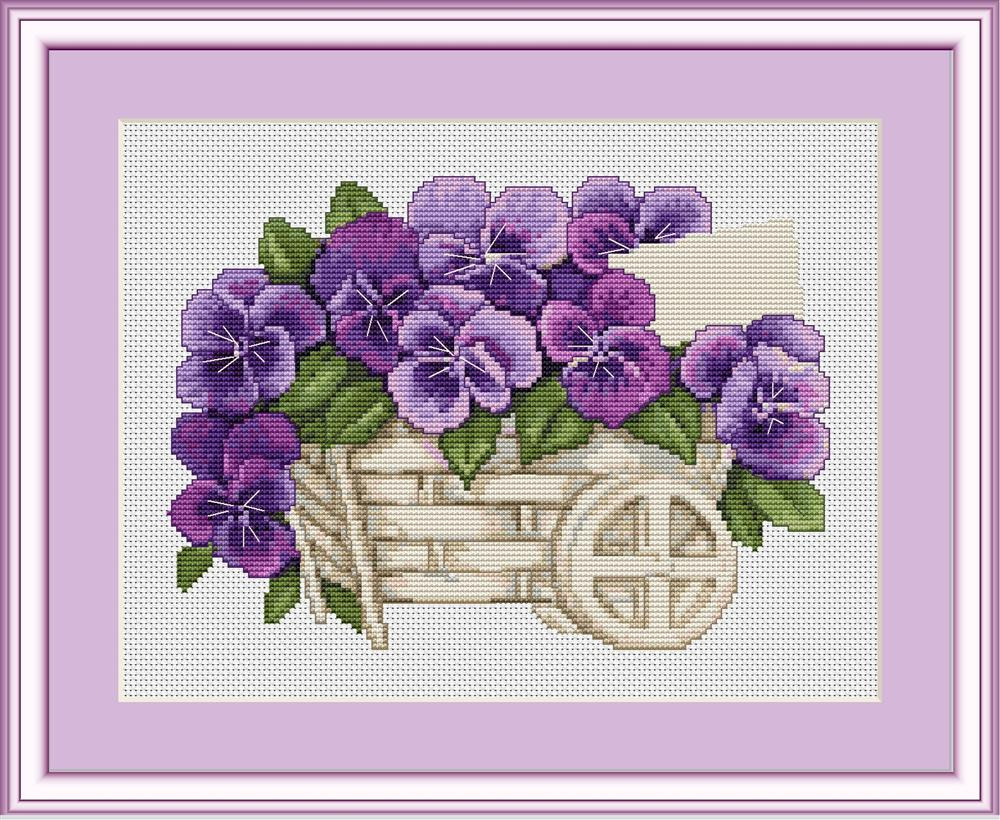 Pansies - Petit Point