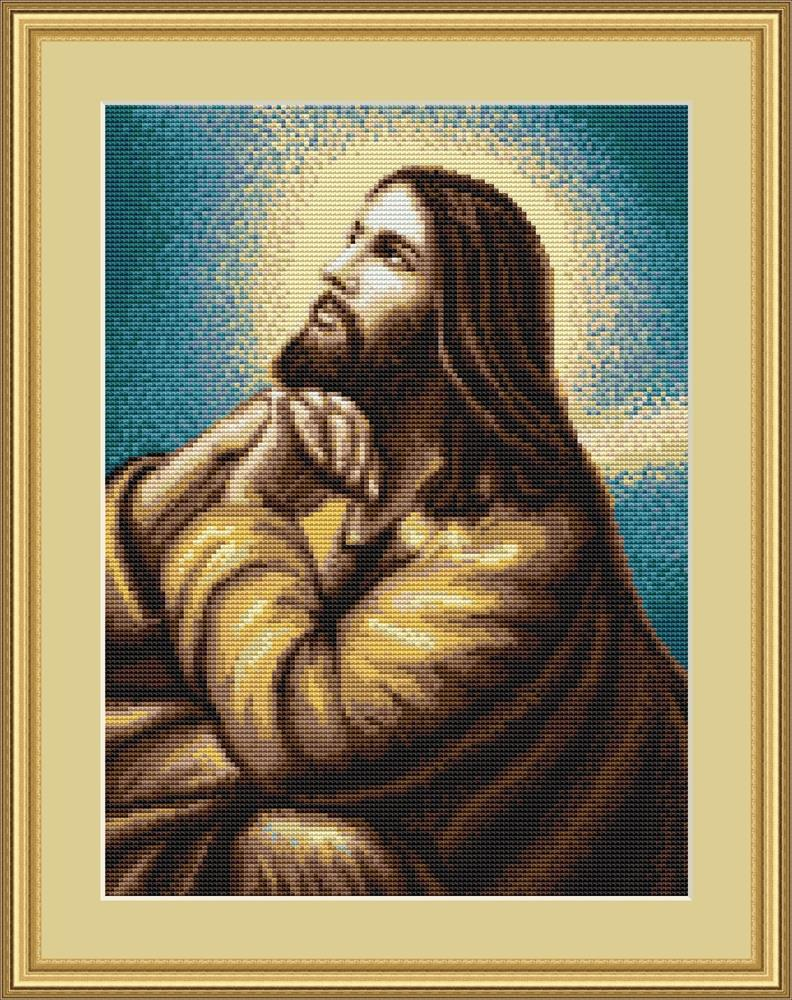 Jesus at Prayer - Petit Point