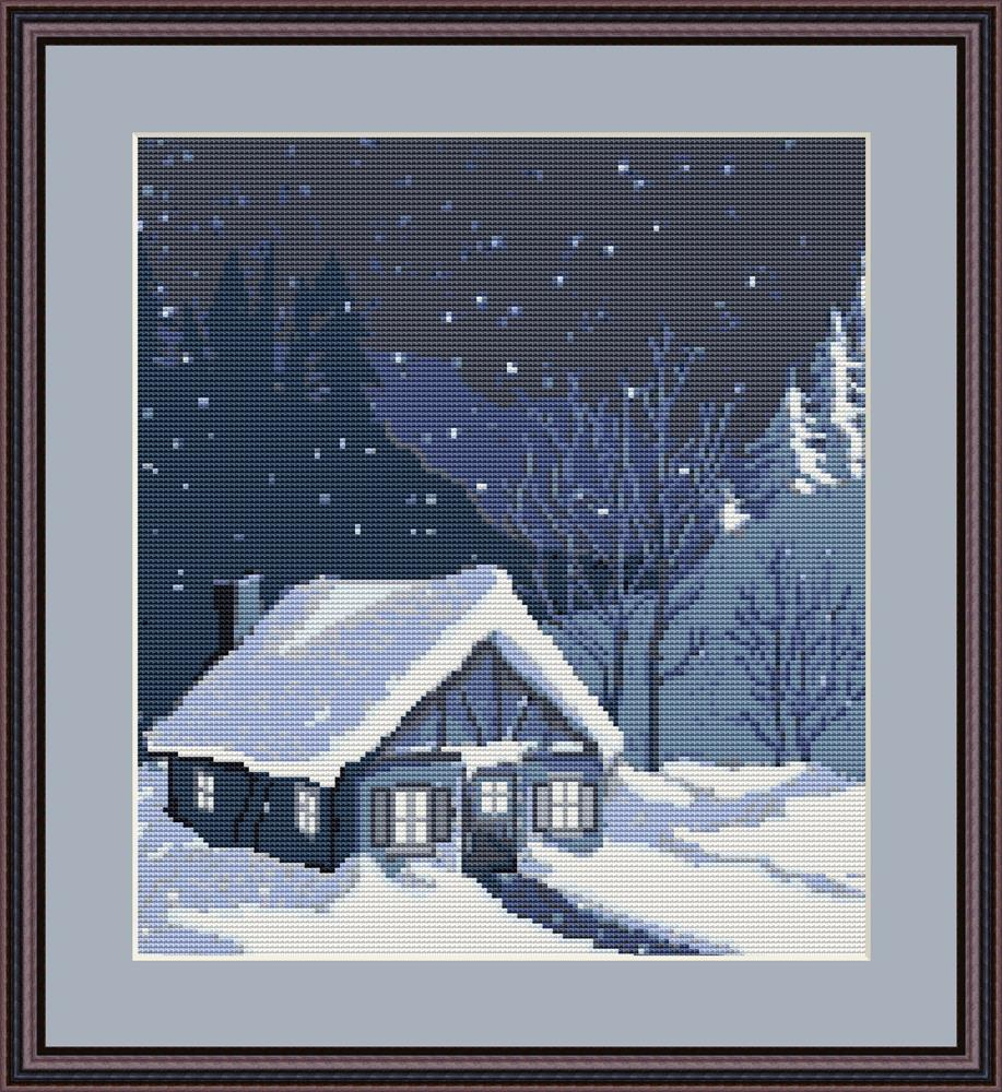 House in Snowbank - Petit Point