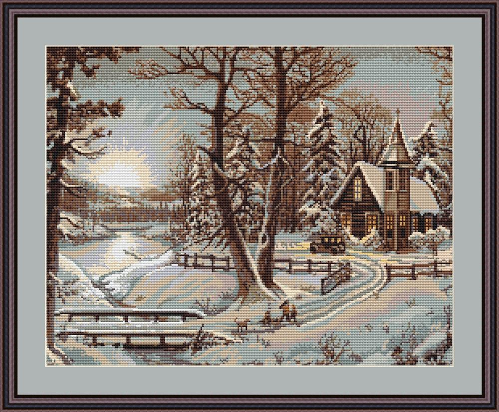 Winter Landscape - Petit Point