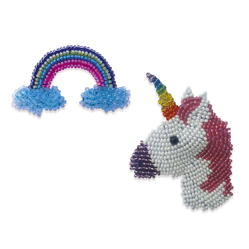 Unicorn and Rainbow Brooches
