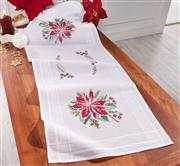 Christmas Table Linens In Cross Stitch And Embroidery Stitcher